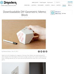 Downloadable DIY Geometric Memo Block