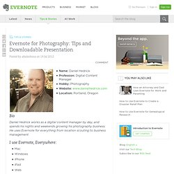 Evernote for Photography: Tips and Downloadable Presentation - Evernote Blog