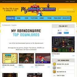 Most downloaded abandonware games