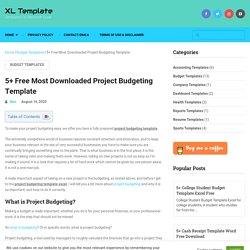 5+ Free Most Downloaded Project Budgeting Template - XL Template