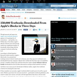350,000 Textbooks Downloaded From Apple's iBooks in Three Days - John Paczkowski