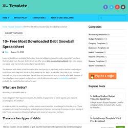 10+ Free Most Downloaded Debt Snowball Spreadsheet - XL Template