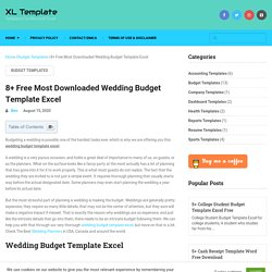 8+ Free Most Downloaded Wedding Budget Template Excel - XL Template
