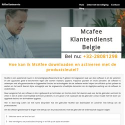 Hoe kan ik McAfee downloaden en activeren met de productsleutel?