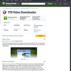YouTube Downloader - Free software downloads and reviews