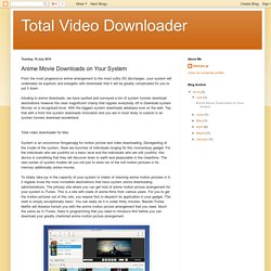 Total Video Downloader: Anime Movie Downloads on Your System