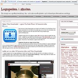 Appen Titan Downloader - spara YouTube-filmer till kamerarullen