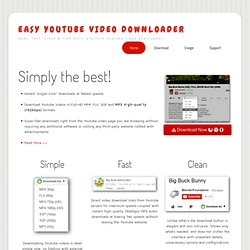 Easy YouTube Video Downloader - Simple And Fast Direct Video Downloads