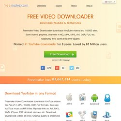 Free Video Downloader | YouTube Downloader | FREE Download