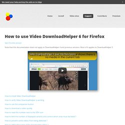 DownloadHelper - Video download browser extension
