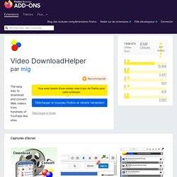 Video DownloadHelper :: Modules pour Firefox