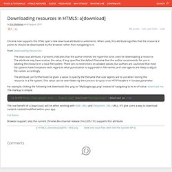 Downloading resources in HTML5: a[download]