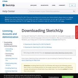 SketchUp version à télécharger [en]