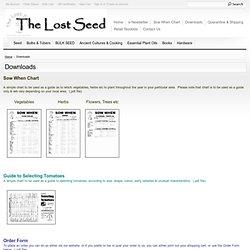 Gardening Downloads: TheLostSeed.com