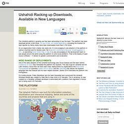 Ushahidi Racking up Downloads