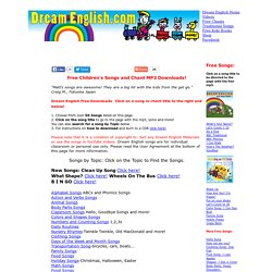 Free MP3 Downloads of Kids Songs,Free Kids Music, Free Children's Music,Teach English with Songs