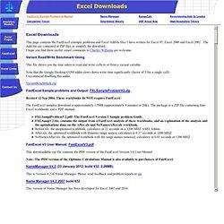 Excel Downloads - Decision Models