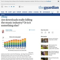 Are downloads really killing the music industry? Or is it someth