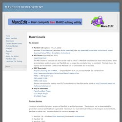 MarcEdit Development