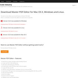 Downloads Master PDF Editor Mac OS X, Windows and Linux