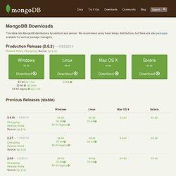 Downloads - MongoDB