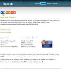 FreeOCR Downloads - Free Optical Character Recognition Software for Windows