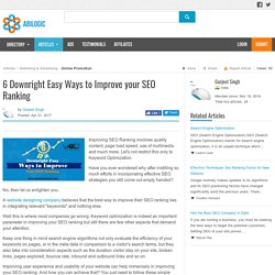 6 Downright Easy Ways to Improve your SEO Ranking