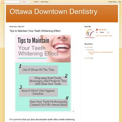 Ottawa Downtown Dentistry: Tips to Maintain Your Teeth Whitening Effect