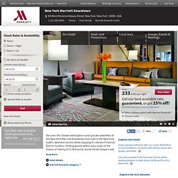 Downtown Manhattan Hotels - New York Marriott Downtown Hotel | Hotels in Lower Manhattan