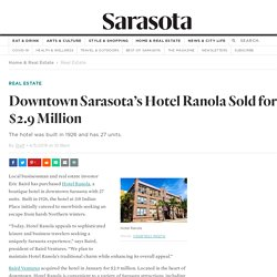 Downtown Sarasota's Hotel Ranola Sold for $2.9 Million