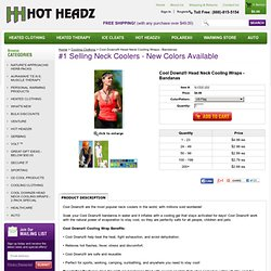Cool Downz Neck Cooling Wraps Evaporative Cooling Wraps