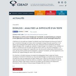 Doxilog : analysez la difficulté d'un texte