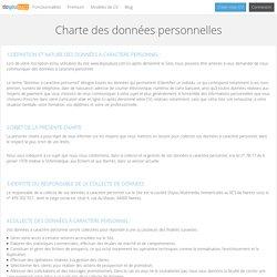 DoYouBuzz : Charte des données personnelles