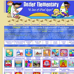 Dozier Elementary's Sea of iPad Resources