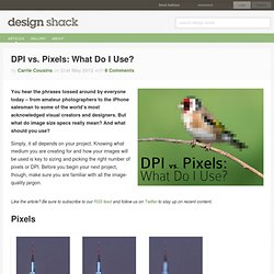 DPI vs. Pixels: What Do I Use?