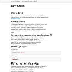dplyr tutorial