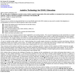 Article: Assistive Technology for ESOL Education