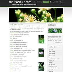 Dr Bach's system of 38 flower remedies