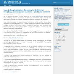 Dr. Chuck's Blog
