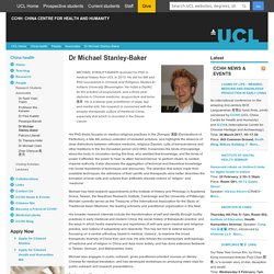 Dr Michael Stanley-Baker