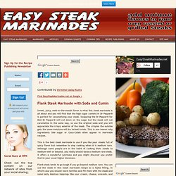 Dr Pepper Steak Marinade | Best Steak Marinade