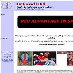 Dr Russell Hill Research