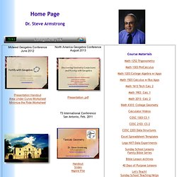 Dr. Steve Armstrong Home Page