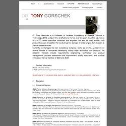 DR. TONY GORSCHEK