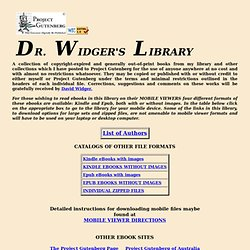 DR. WIDGER'S LIBRARY