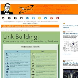 What Are The Do's and Don'ts Of Link Building