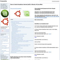 Geen of slecht draadloos internet (wifi) in Ubuntu of Linux Mint - Computertip