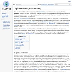 Alpha Draconis/Orion Group - Ascension Glossary
