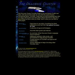 The Draconis Cluster Taveller Pages