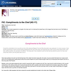 dracotops_harry: FIC: Compliments to the Chef (NC-17)